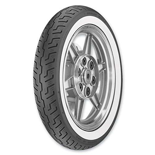 Dunlop K177 120/90-18 Wide Whitewall Front Tire 4009-36 (Tire 18 Motorcycle Dunlop 120 90)