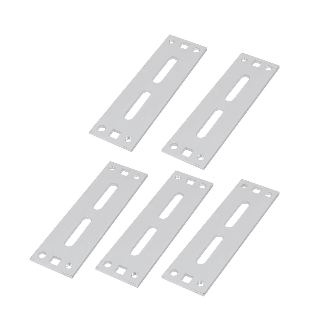uxcell 5pcs Aluminum Alloy 135mmx40mmx3.4mm Cable Holder Wire Organizer for Home Office