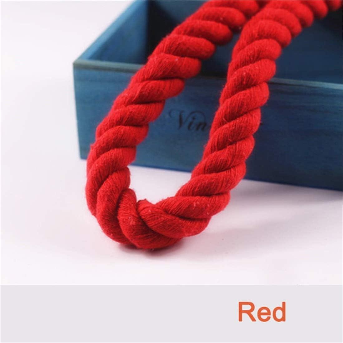 WML Rope 20mm Manual DIY Tres Hilos de Color Cuerda Gruesa Cuerda torcida Cuerda de árbol Atada Diseño de decoración de torsión de algodón Cuerda Gruesa 50m Color Opcional (Color : Yellow):
