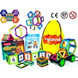 """Magnetic Blocks Educational Building Set and Magnetic STEM toy Shapes """"GIFT BOX"""" (54PCS) Magnet Toys For Boys And Girls Construction Kit For kids Magnetic Tiles Children Birthday Gift, Stacking For Toddlers"""