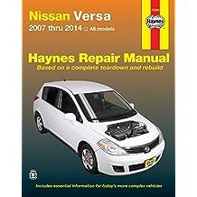 Nissan Versa 2007 thru 2014 All models