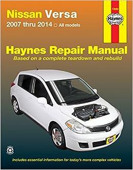 nissan versa note wiring diagram nissan image nissan versa 2007 thru 2014 all models haynes repair manual on nissan versa note wiring diagram