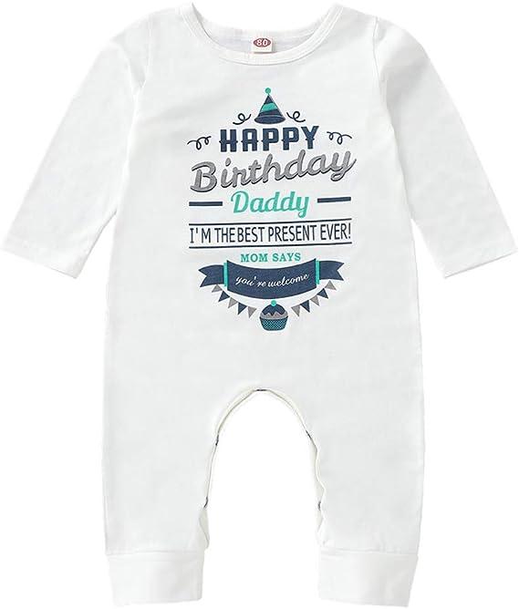 Amazon Com Heart Co Designs Birthday Baby Clothes Happy Birthday Daddy Dad S Birthday Baby Onesie Shirt Clothing
