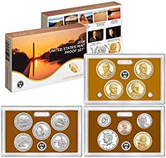 """The 2014-S United States Mint Proof Set contains 14 coins in stunning proof condition displayed in three protective lenses. Each of these 2014-dated coins bears the """"S"""" mint mark of the United States Mint at San Francisco.The coins included i..."""