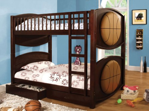 Furniture of America Basketball Bunk Bed with 2-Drawers, ...