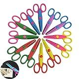 Creatiee 12Pcs Decorative Craft Edger Scissors, Student Scrapbooking Edger Scissors|Paper Edge Scissor Set|Wave Edge Scissors with 6 Pattern for Scrapbook Album/Decorative Stamps Edge/Scrapbook Cards