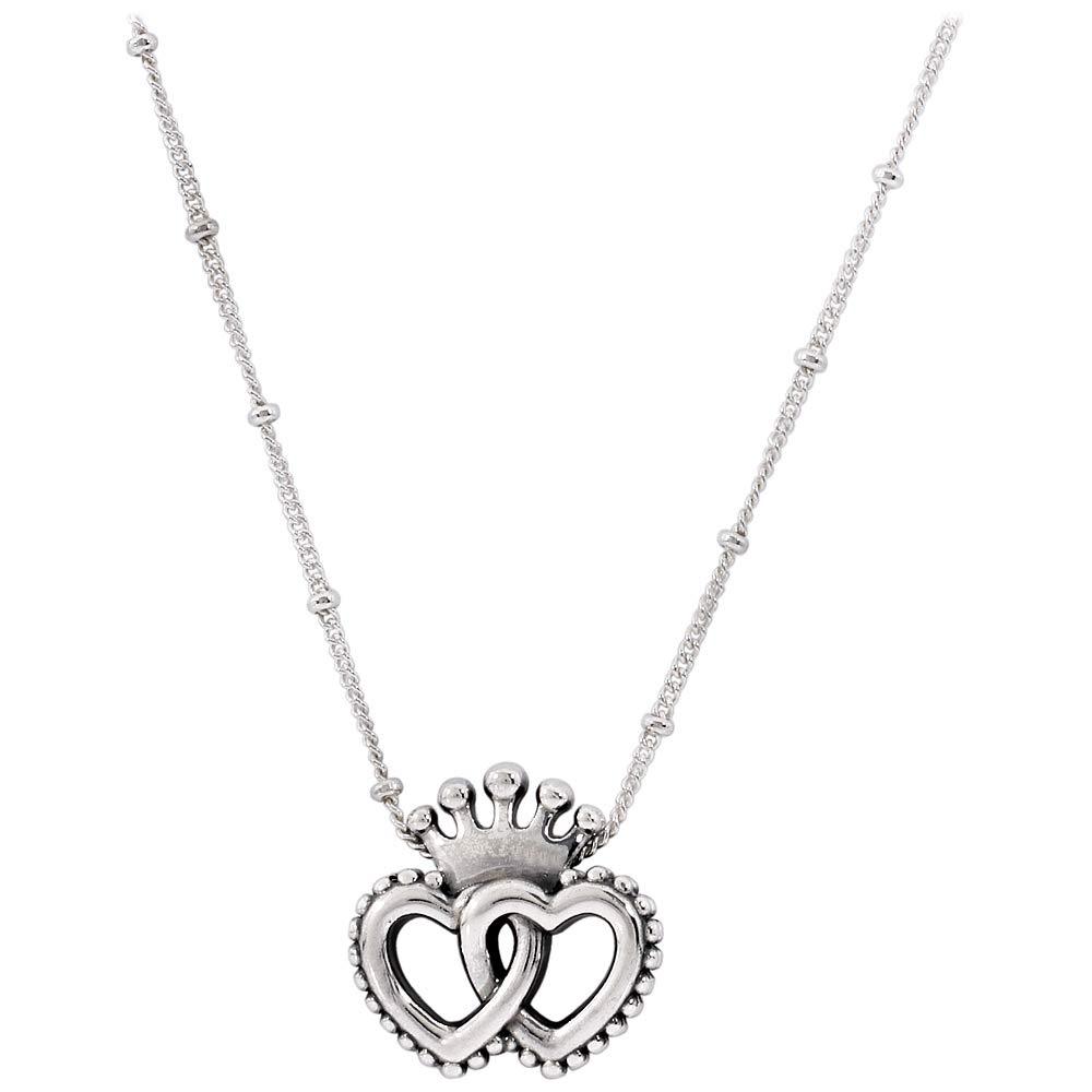 Pandora United Regal Hearts Silver Necklace 39771945