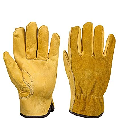 Cowhide Rigger Gardening Gloves Thorn Proof Cowhide Work Gloves Waterproof  Slim Fit Reinforced Gloves Gauntlet