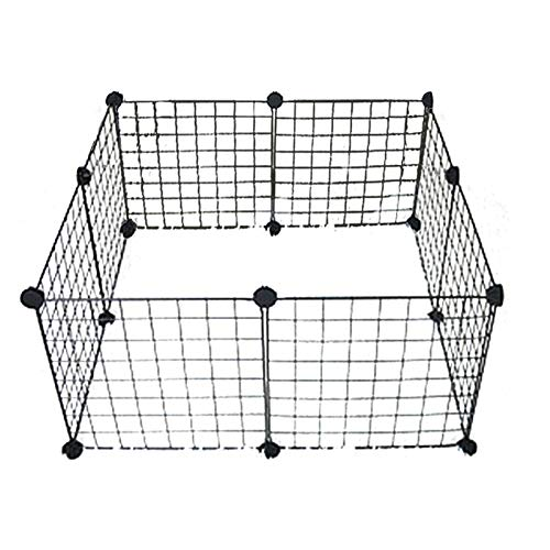 8pcs Pet Playpen, Expandable Small Animal Fence Cage DIY Exercise Pen Crate Kennel Hutch for Small Animals Bunny Rabbit Puppy Guinea Pigs Indoor & Outdoor (8pcs)
