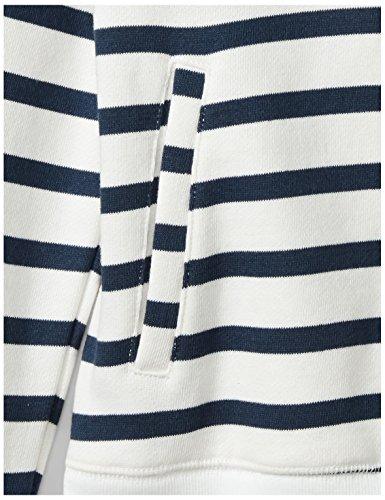 Spotted Zebra Little Girls' Fleece Zip-Up Hoodies, Navy/White Stripe, X-Small (4-5) by Spotted Zebra (Image #3)