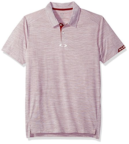Oakley Men's Gravity Polo, Iron Red, - Clothing Oakley Mens