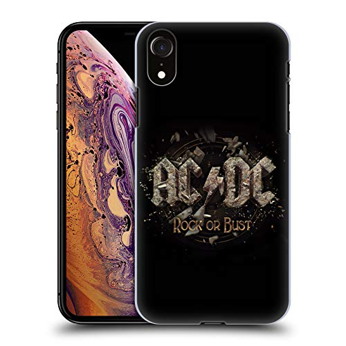 Official AC/DC ACDC Rock Or Bust Bricks Album Art Hard Back Case Compatible for iPhone XR