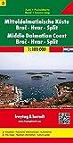 Carte routière : Mitteldalmatinische Küste