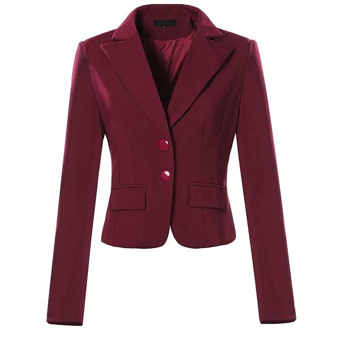 Mujer Otoño Primavera Blazers y Chaquetas Trabajo Oficina Dama Traje Slim Office Blazer Mujer Escudo STRIR