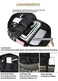 Gazigo Geometry Girls Canvas College Laptop Backpack + Lunch Bag