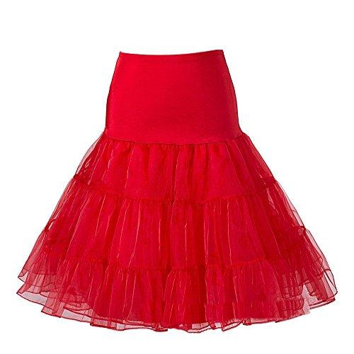 Jupon Anne Petticoat File Soire Lolita Ballet Sous Vintage Style Dress Femme Rouge Haute Tulle Swing Jupe Cocktail Bal 50 Fete C pour Robe Rtro Taille Tutu en Rockabilly Landove Court Raffin YtHqcx6