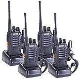 Baofeng BF-888S Two Way Radios Long Range Walkie Talkie Rechargeable Walkie Talkies Handheld Radio Built In Flashlight With Earpiece(Pack of 4)