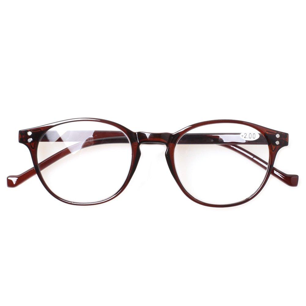 87e547e55c 5 Pairs Reading Glasses - Standard Fit Spring Hinge Readers Glasses for Men  and Women 0.50 )
