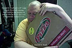 """Randall M. Rueff and a 14"""" Large Speedy Pizza with sausage fresh baked in just minutes for only $5.99¢ on 10-21-2017 A.D. in Taylorsville, Indiana U.S.A."""