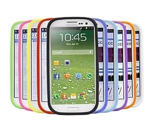iTALKonline Samsung i9500 Galaxy S4 IV Paquete de 10 Púrpura ROJO VERDE AZUL AM Piel suave Armour Silicona protectora cubierta de Shell