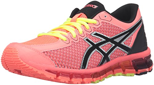 ASICS Gel-Quantum 360 cm GS Running Shoe (Little Kid/Big Kid), Flash Coral/Black/Silver, 2.5 M US Little Kid by ASICS