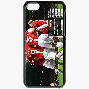 Personalized iPhone 5C Cell phone Case/Cover Skin UEFA Champions League Manchester United Football Black