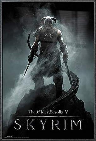 The Skyrim Dragon Video Game Custom Poster Fabric 8x12 20x30 24x36 E-467