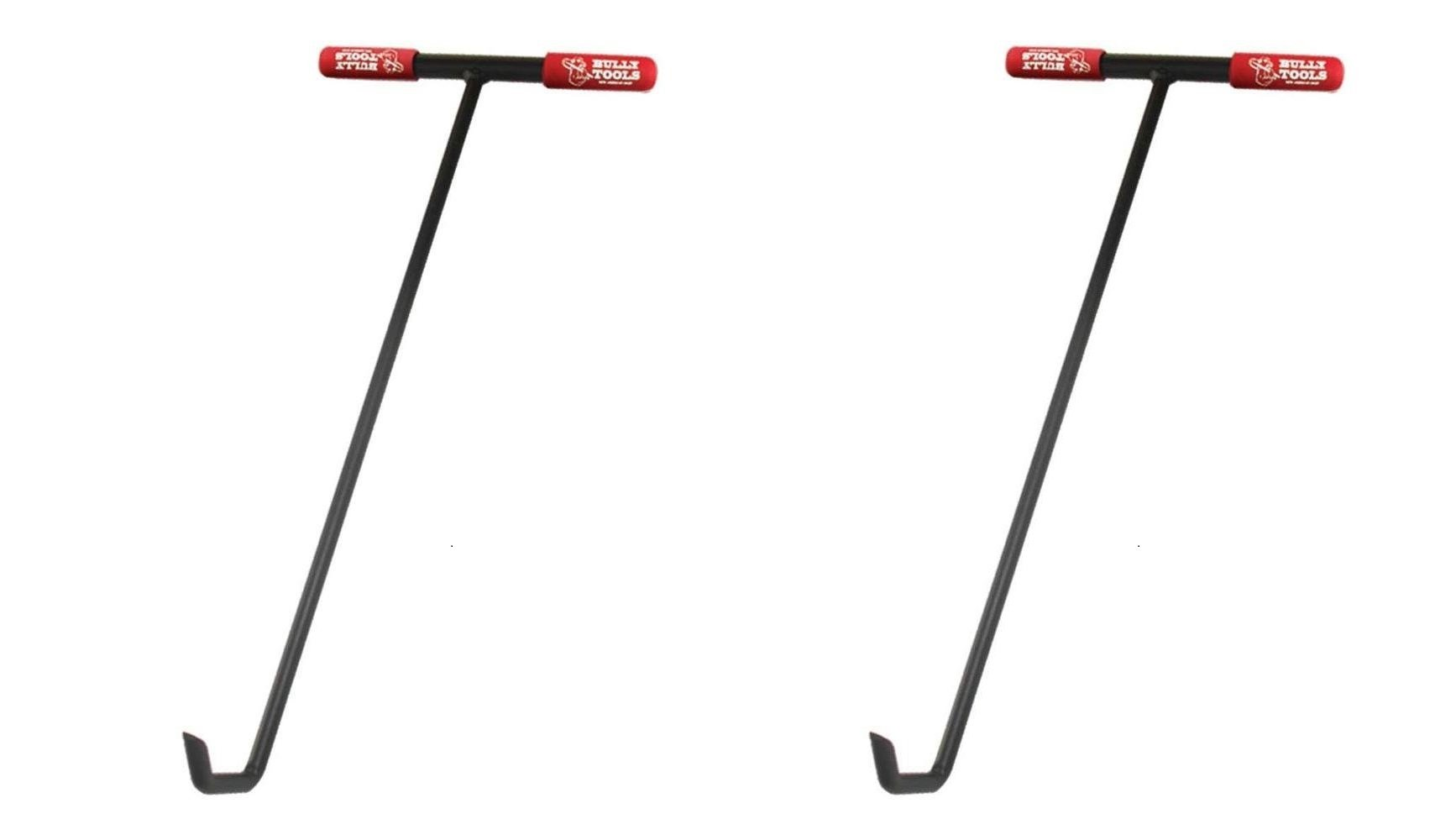 Bully Tools 99200 24'' Manhole Cover Hook. Steel Tstyle Handle. (Pack of 2) by Bully Tools