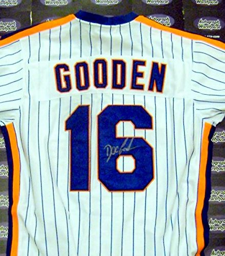 Dwight Gooden autographed Jersey (New York Mets Doc 1985 Cy Young Award) inscribed 85 CY Authentication Certificate (Mets Autographed Jersey)