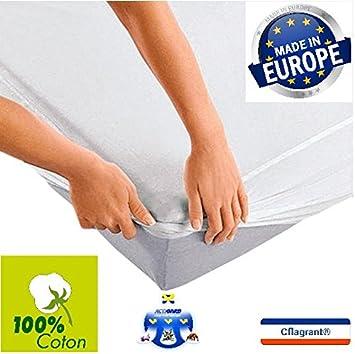 Cflagrant® Protège-Matelas Alèse 90 x 190 cm en Molleton 100% Coton ... 36be3ce6cd90