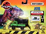 Matchbox the Lost World Jurassic Park Action System Tracker Trapper Rescue Truck with Nick Van Owen and Baby Stegosaurus
