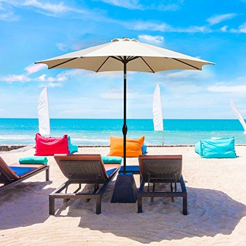 grand patio 9ft aluminum patio umbrella with auto tilt and. Black Bedroom Furniture Sets. Home Design Ideas
