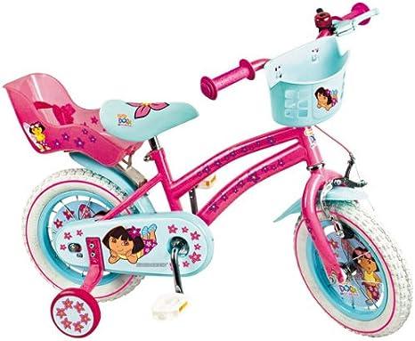 Euro T Cycles 93649 - Bicicleta con ruedines, 30 cm, diseño Dora la ...