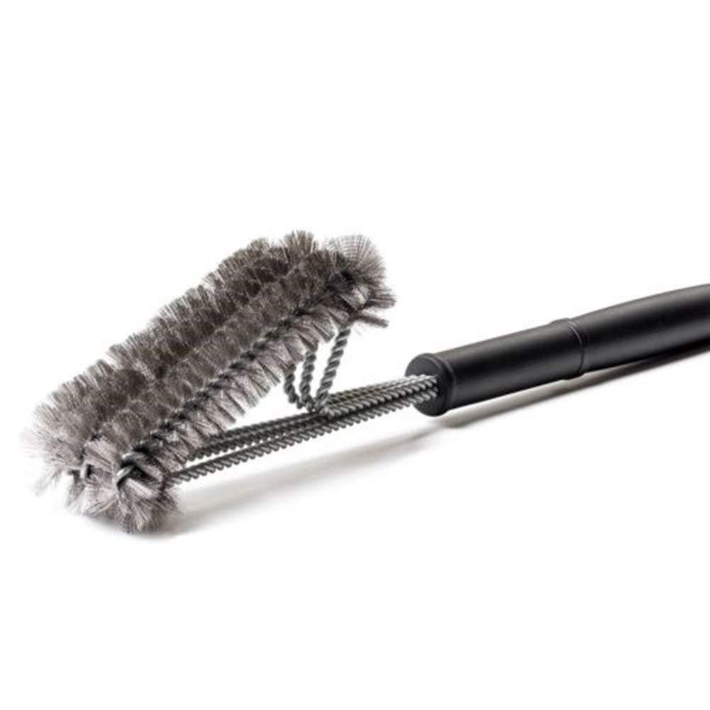 SPECOOL Cepillo triangular limpiador de barbacoa, cepillo de parrilla para barbacoa con rascador de acero inoxidable para cerdas de barbacoa