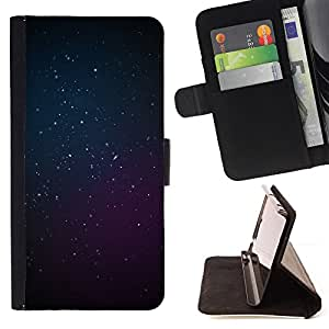 BullDog Case - FOR/Samsung Galaxy S4 Mini i9190 / - / cosmos purple blue deep space stars /- Monedero de cuero de la PU Llevar cubierta de la caja con el ID Credit Card Slots Flip funda de cuer