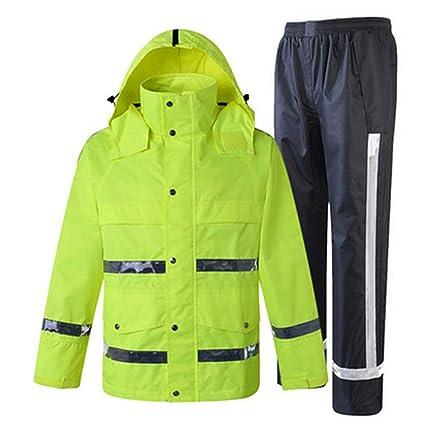 Belingeya Multifuncional Chaqueta y pantalón Impermeables para la Lluvia, Traje de Poncho con Capucha y