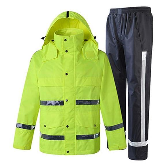 Sumferkyh Alta Visibilidad Chaqueta y pantalón Impermeables para ...