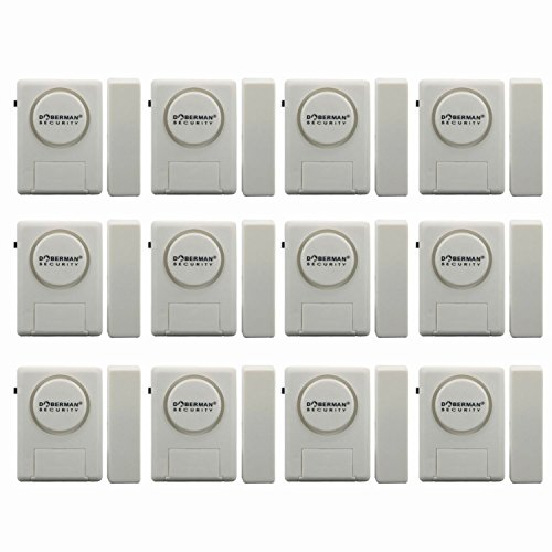 Doberman Security SE-0137 Home Security Window/Door Alarm Kit, 12 Pack (White) by Doberman Security
