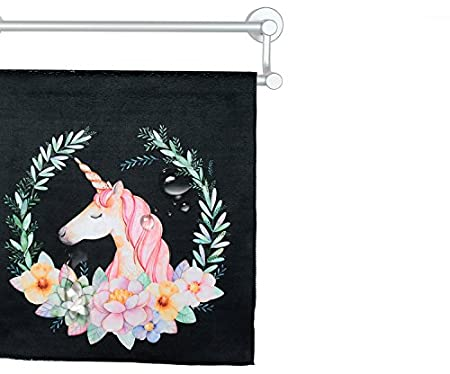 Amazon.com: Colias Wing Cute Unicorn&Flowers Pattern Stylish Design Super Soft Bamboo Microfiber Bathroom Towels Bath Fitness Towel Sports Towels Yoga ...
