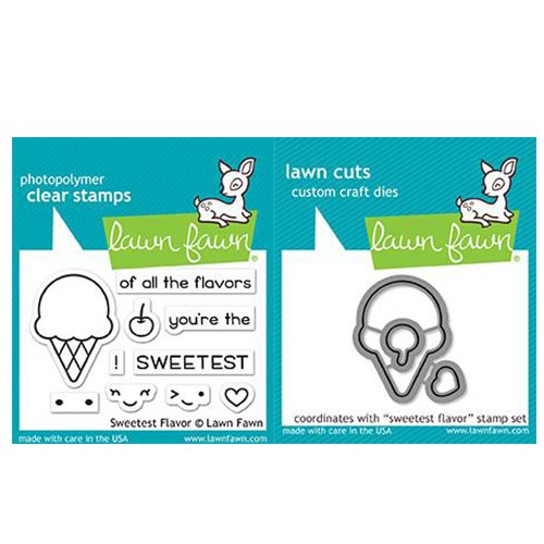 Lawn Fawn Clear Stamp & Die Set - Sweetest Flavor by Lawn Fawn