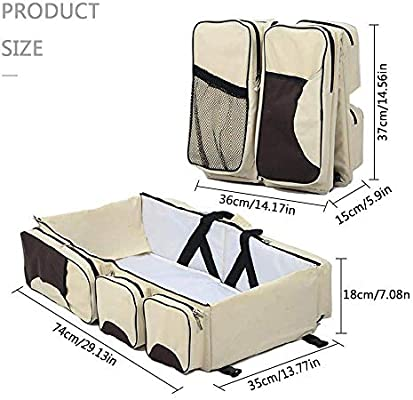 Womdee 3 en 1 bolsa de viaje universal para beb/é bolsa de pa/ñales port/átil y cuna de viaje y estaci/ón cambiadora para reci/én nacidos o beb/és rosa rosa