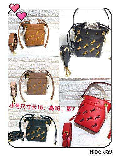 new products c9eba b0f86 Bolso Pony Mujer Diseño Para Red De Cordón Pequeño Dark Con Green Bandolera  Trumpet tamaño Gsydxkb vqwXadWd