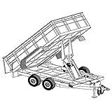 """Hydraulic Dump Trailer Blueprints (12' x 6'4"""" - Model 12HD)"""