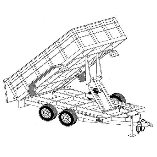 hydraulic dump trailer blueprints  12 u0026 39  x 6 u0026 39 4 u0026quot