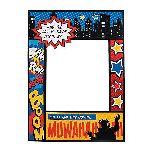 Superhero Comic Book Photo Prop (almost 3 feet tall) Cutout and Party Decor (Photo Booth Superhero Props)
