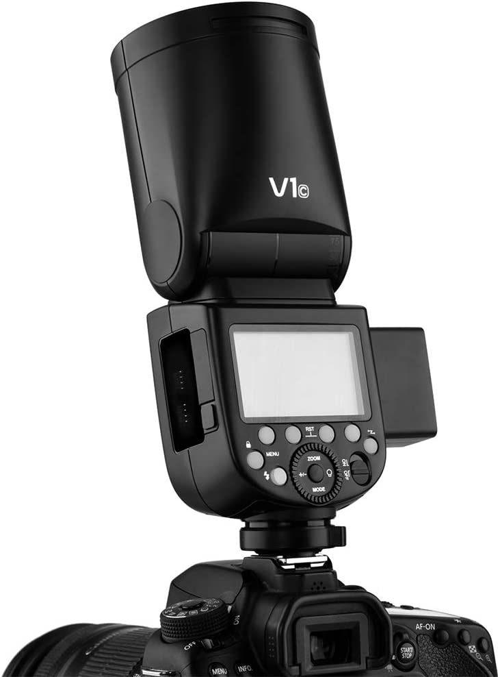 Godox V1 Flash V1-N Round Head Flash 2.4G TTL On-Camera High-Speed Sync 1//8000s Round Head Camera Speedlight Compatible Nikon Camera with Godox Xpro-N