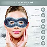 Gel Eye Mask with Eye Holes- Hot Cold Compress Pack