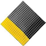Rhino Mats Reflex Raised Domed Interactive Surface Anti-Fatigue Mat, 3'W x 5'L x 1''H, Metal/Yellow