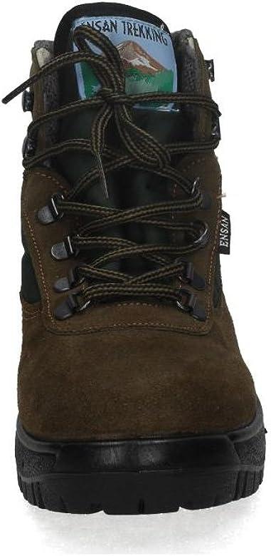 ENSAN 900 BOTÍN DE MONTAÑA Hombre Botas-Botines Verde 39: Amazon.es: Zapatos y complementos