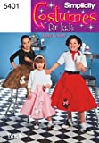 Simplicity Sewing Pattern 5401 Child and Girl Costumes, K5 (7-8-10-12-14)